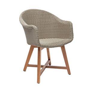 Gipsy 4321, Komfortabel und ergonomisch Stuhl mit Armlehnen für den Außenbereich