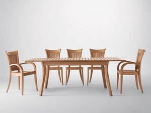 Harmony Sessel, Moderne Sessel mit Armlehnen, in Holz, Garten