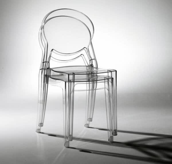 Igloo chair, Polycarbonat- Design-Stuhl, stapelbar
