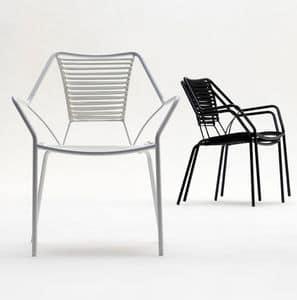 Knit Knot new armchair, Sessel für den Außenbereich, Weben in nautischen Seil, elegant aber leichte