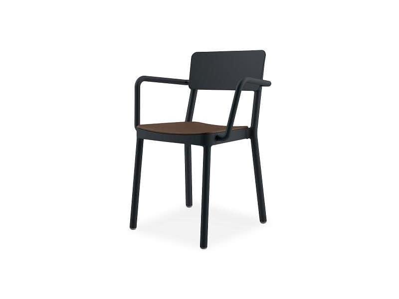 Lisboa armchair 1, Sessel aus Kunststoff und Glasfaser, für Hotels und Restaurants