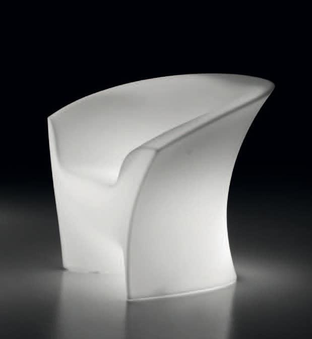 LT 2016 / 1P, Sessel aus Polycarbonat, mit Innenbeleuchtung, für Outdoor-Bar