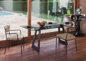 Lucky PT, Sessel mit Metallstruktur für private Nutzung und Bars