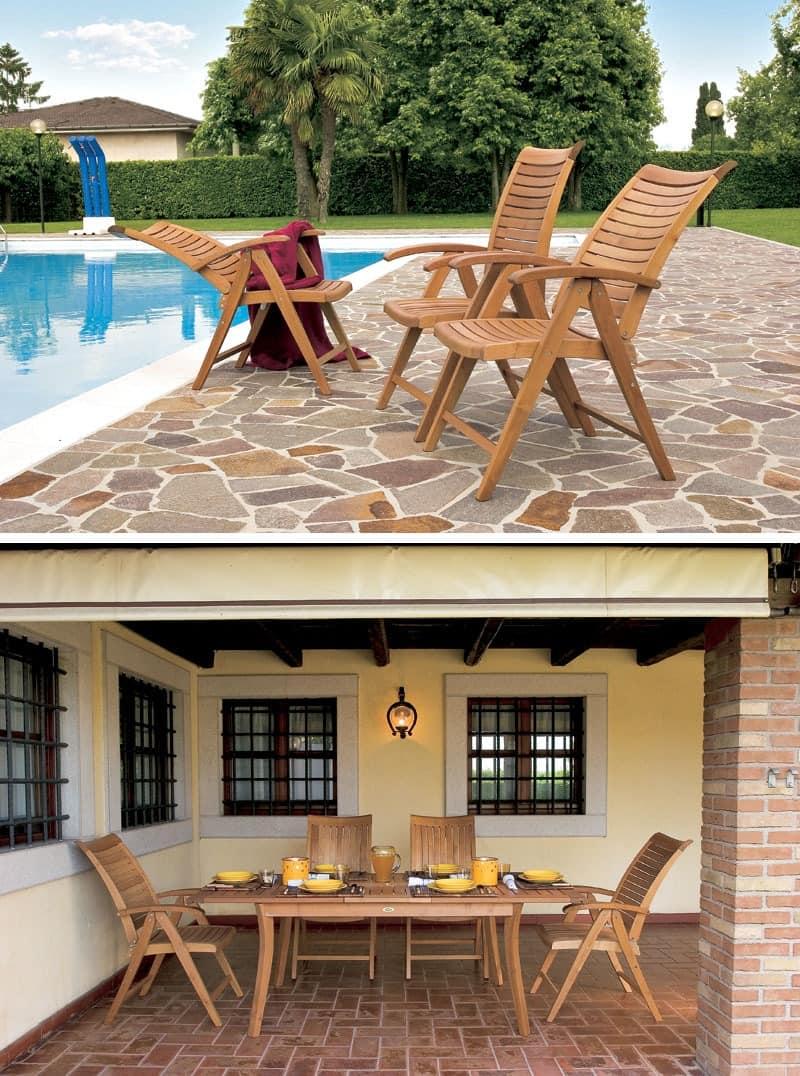 Mirage sessel zum relaxen, Stuhl mit horizontalen Lamellen, für den Außenseite und Bar