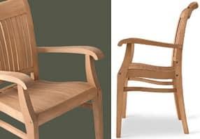Newport Sessel, Holzstuhl mit Armlehnen, für Bars und Restaurants