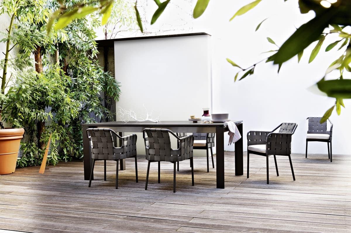 Sgabelli Bar Obi : Stuhl aus aluminium und kunstfaser für den außenbereich idfdesign