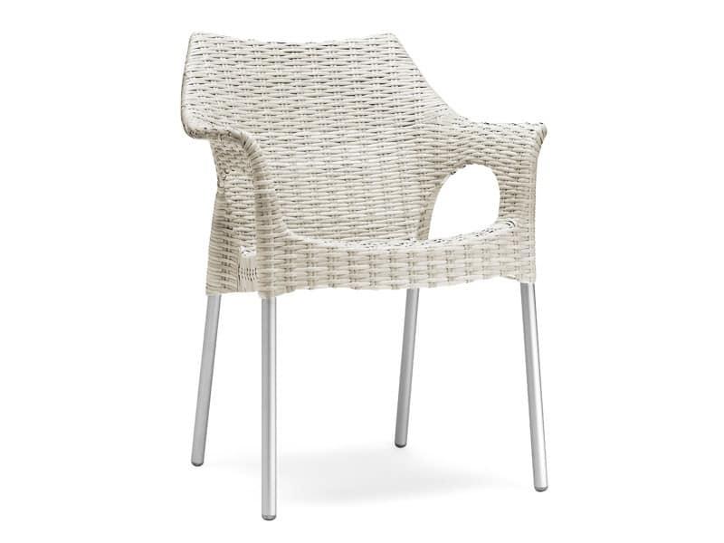 PL 2277, Sessel mit gefälschten Interlacing, für außen und Eisdiele