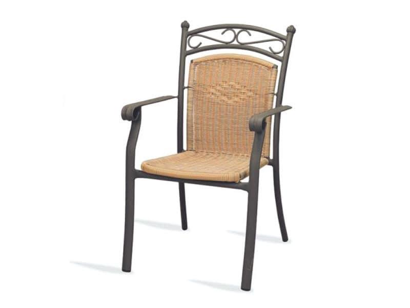 PL 406, Stuhl mit Armlehnen, gewebt, für Hotels und Restaurants