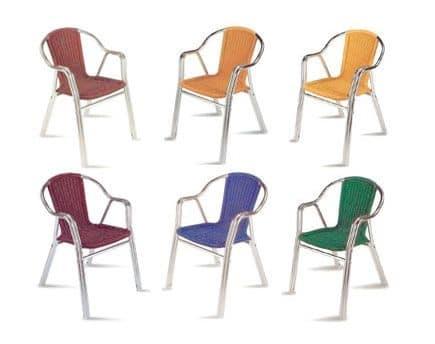 PL 412, Moderne Stuhl mit gewebten Sitz, für den Außenbereich