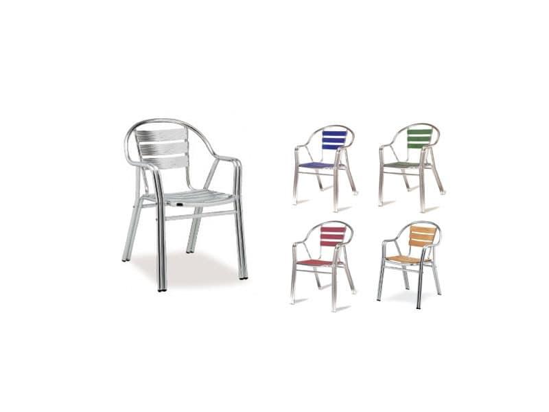 PL 414, Beständige Aluminiumstühle, für Eisdiele