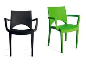 PL 6614, Beständig Stuhl aus Polypropylen, für Hotel und Bar