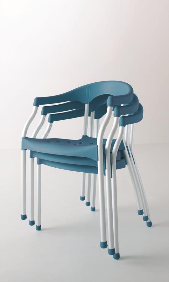 Serena, Stuhl leicht, stabil, stapelbar, für den Außenbereich
