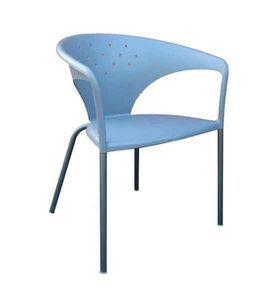 Terrasse, Sessel mit geschwungenen Formen, für Gärten und Höfe