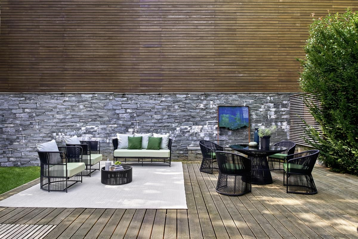 Tibidabo Sessel, Moderne Sessel, Weberei in Kunstfaser, für den Außenbereich