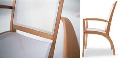 Wave Sessel - textilene, Durable Sessel, glatte Linien, für die Bar und Eisdiele