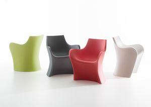 Woopy, Gewellter Sessel aus Polyethylen, auch für den Außenbereich