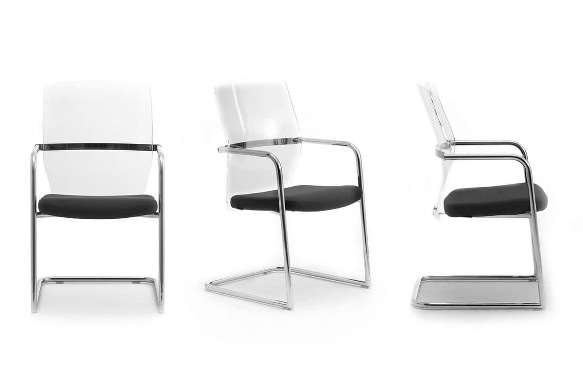 Ego Lux guest 53455, Stuhl mit Kufen, gepolsterter Sitz, für das Büro