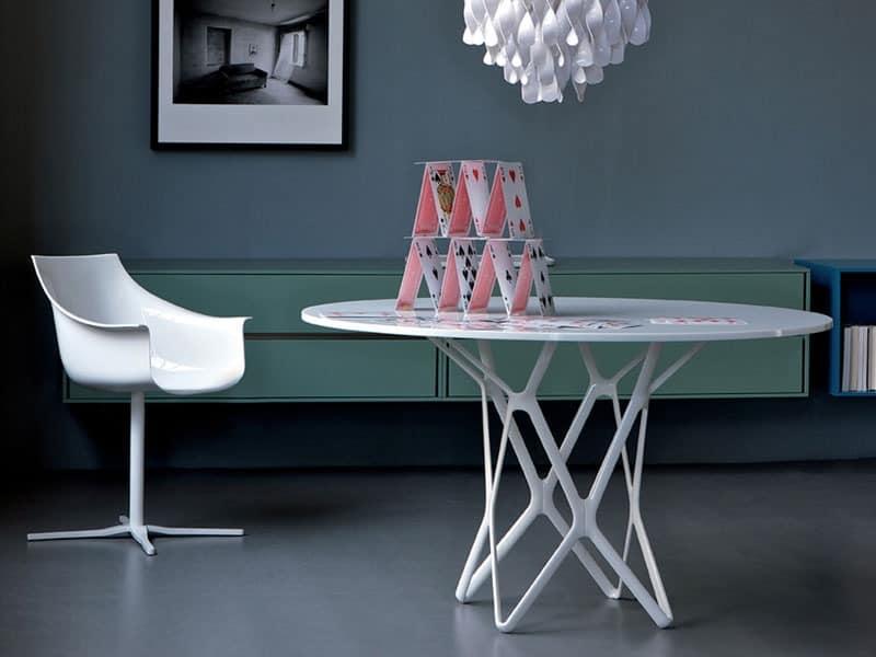 sessel mit metallstruktur geh use aus polycarbonat f r. Black Bedroom Furniture Sets. Home Design Ideas