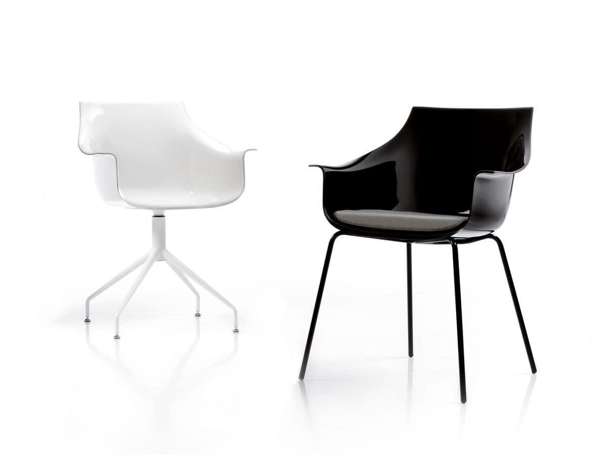 sessel mit metallstruktur geh use aus polycarbonat f r wartezimmer idfdesign. Black Bedroom Furniture Sets. Home Design Ideas