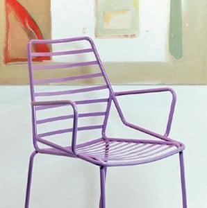 Link cod. 88, Beständige Sessel aus lackiertem Metall, für den Außenbereich