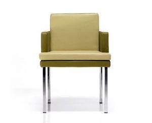 Marta, Moderner Sessel aus Leder