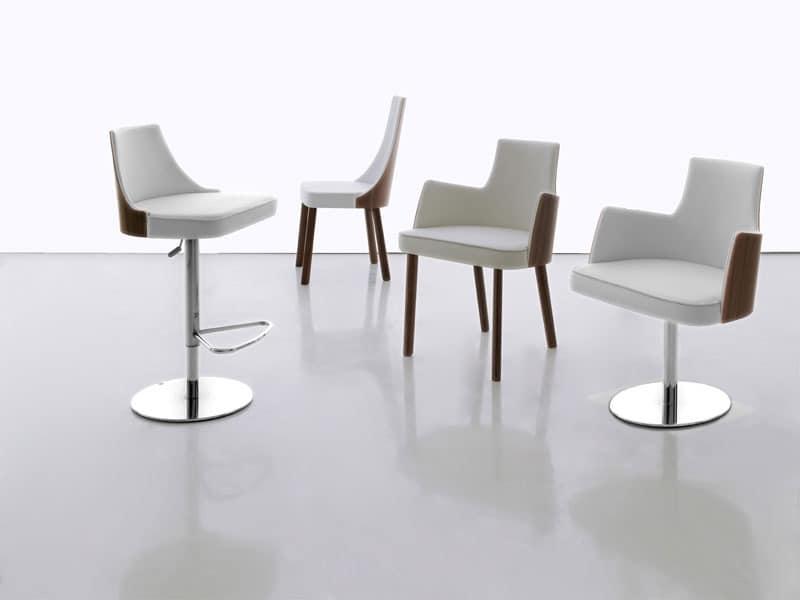 moderner stuhl mit armlehnen bar idfdesign. Black Bedroom Furniture Sets. Home Design Ideas