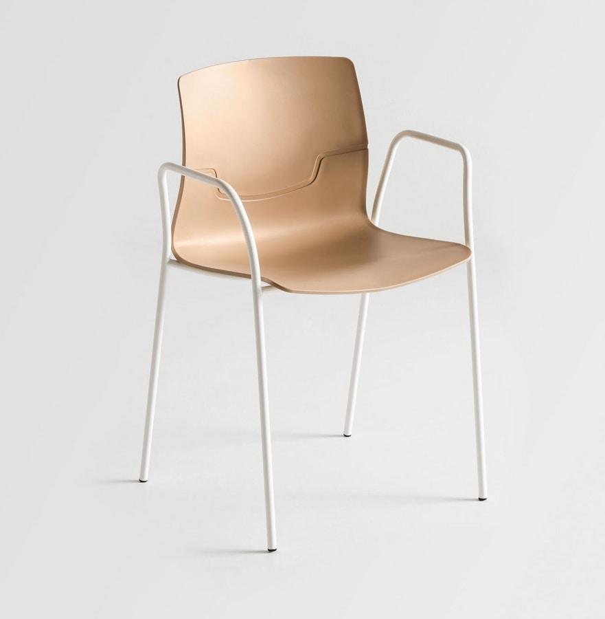 Design stuhl mit kufen aus verchromtem metall idfdesign for Stuhl metallbeine