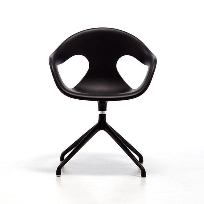 Sunny plastic SP, Sessel mit Drehplatte, Polypropylen Sitz und Rückenlehne