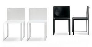 Tersilla, Sessel aus Leder mit Metallstruktur