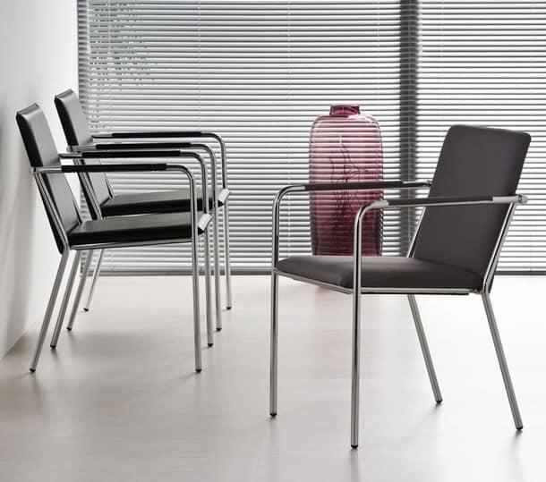 Vivo P, Sessel aus Metall aufgefüllt, für das Büro