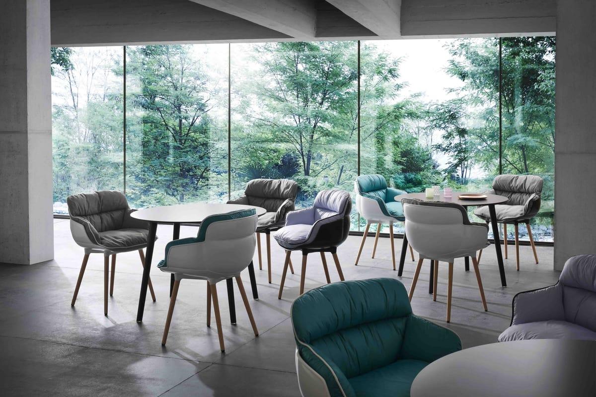 Choppy BP, Design-Sessel in Polymer, für Wartezimmer
