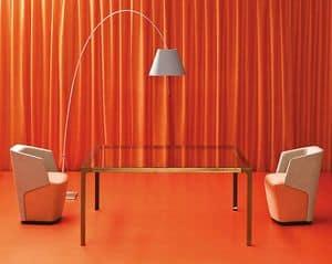 Embrace Conversation, Sessel für den Wartebereich, gepolsterte Rückenlehne mit Schaumstoff