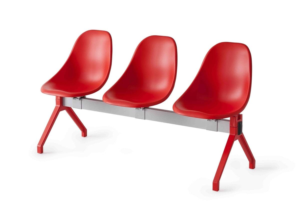 Harmony TVN, Modulare Sitzbank auf dem Balken, für Wartezimmer