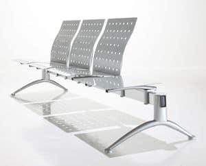 Kargo, Bench für Warte, Stahl und Polyurethan