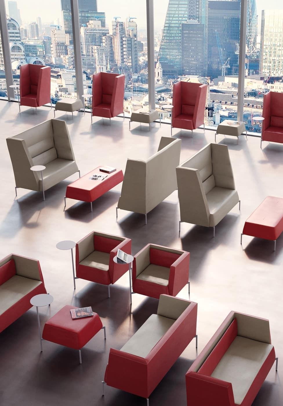 Kendo Sessel, Gefüllte Sessel, für Warte- und Ruhebereiche