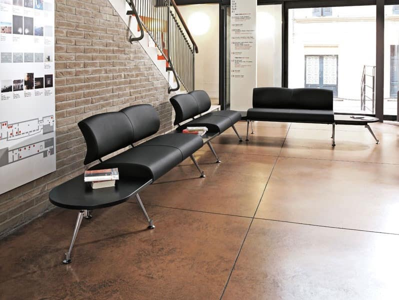 Kondor, Modulare Sitzbank, gepolsterter Sitz und Rücken, für Wartebereiche