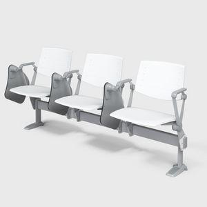 ZERO9 STUDIO-CONTRACT, Bänke mit Tisch am Balken, verstellbare Rückenlehne aus Holz oder Flammschutzmittel Polypropylen, für Konferenzraum und College Unterricht