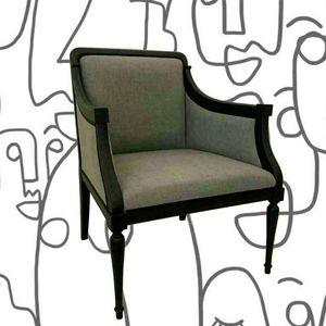 2090 SESSEL, Schwarz lackierter Sessel
