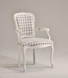 BRIANZOLA Stuhl mit Armlehnen 8017A, Kopf des Tisches Stuhl, gepolstert, in Buche, für den Empfang