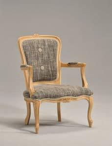 BRIANZOLO Sessel 8040A, Holz klassischen Stuhl, Handarbeit, für den Empfang