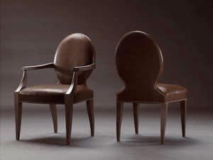 CASPER armchair 8240A, Vollpolsterstuhl, mit Leder bezogen