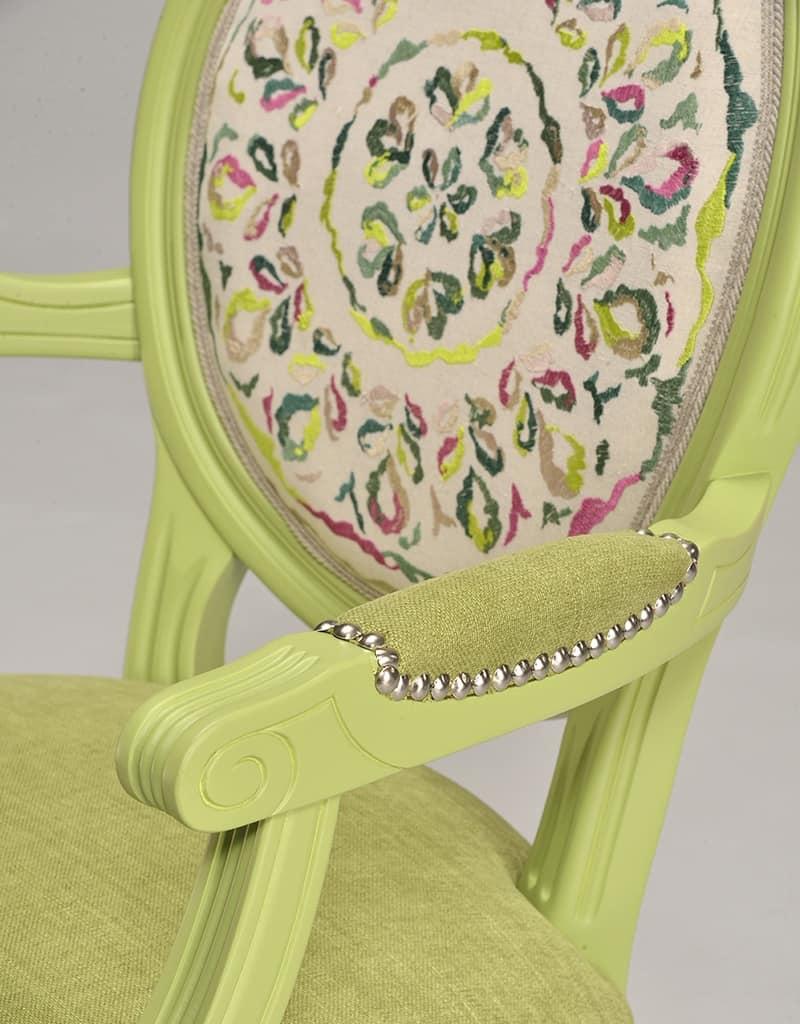 LUIGI XVI armchair 8023A, Stuhl Kopf des Tisches, Louis XVI-Stil, anpassbare