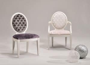 LUNA armchair 8269A, Anpassbare Stuhl mit Armlehnen, klassischer Stil