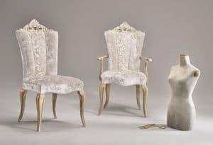 MISSIS stuhl 8619S, Esszimmerstuhl, mit eleganten Stoffen gepolstert, klassischen Stil