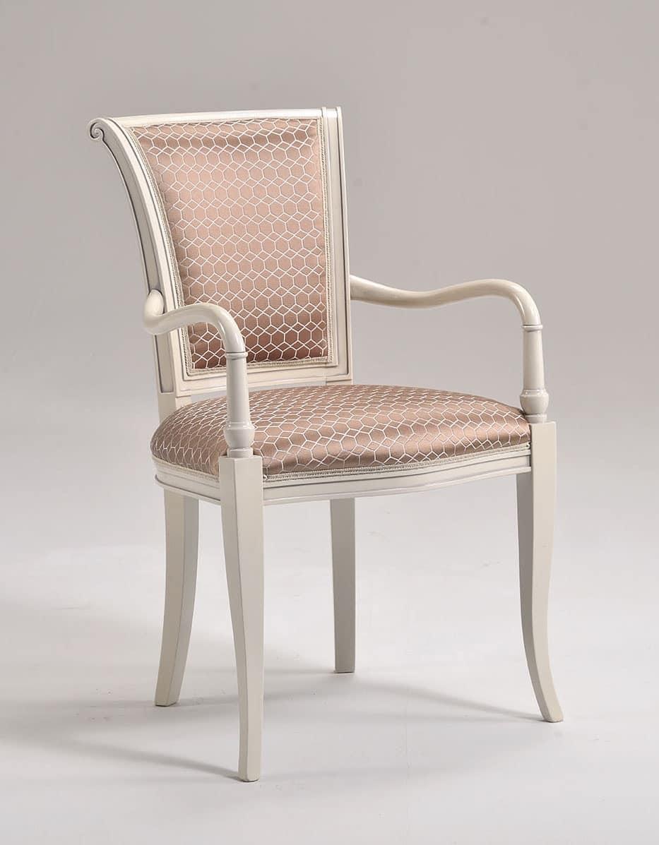 MOLLY armchair 8012A, Klassischer gepolsterter Stuhl mit gut geformten Armlehnen