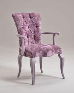 ROYAL Sessel 8494A, Sessel mit gesteppter Polsterung, Luxus im klassischen Stil