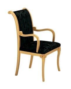 S13, Klassische Polsterstuhl, für raffinierte Aufenthaltsräume und Restaurants