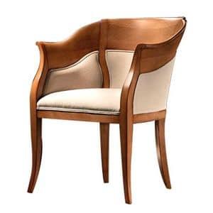 TheBritish CH.0202, Shaped kleinen Sessel, gepolsterten Sitz
