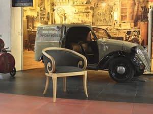 TOFEE armchair 8179A, Polstersessel mit Armlehnen gebogen, klassischer Stil