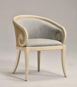 TOFEE armchair (with cane) 8216A, Klassischen Stil Sessel, mit Stoff bespannt